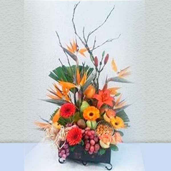 Arreglo Floral Frutero Uvas