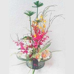 Arreglo Floral Platino con  Orquideas Cymbidium