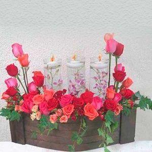 Arreglo Floral para Aniversarios Vela