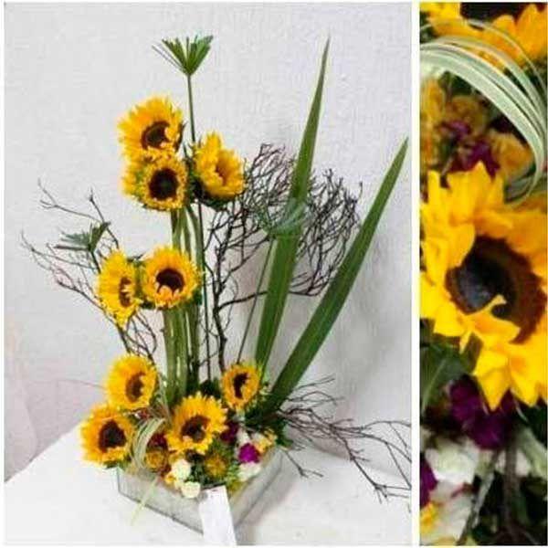 Arreglo Floral con Girasoles  Van Gogh
