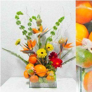 Arreglo Floral Cítrico