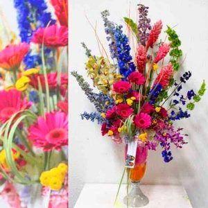 Arreglo Floral con Orquídeas Rainbow
