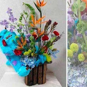 Arreglo Floral con Muñeco Sullivan